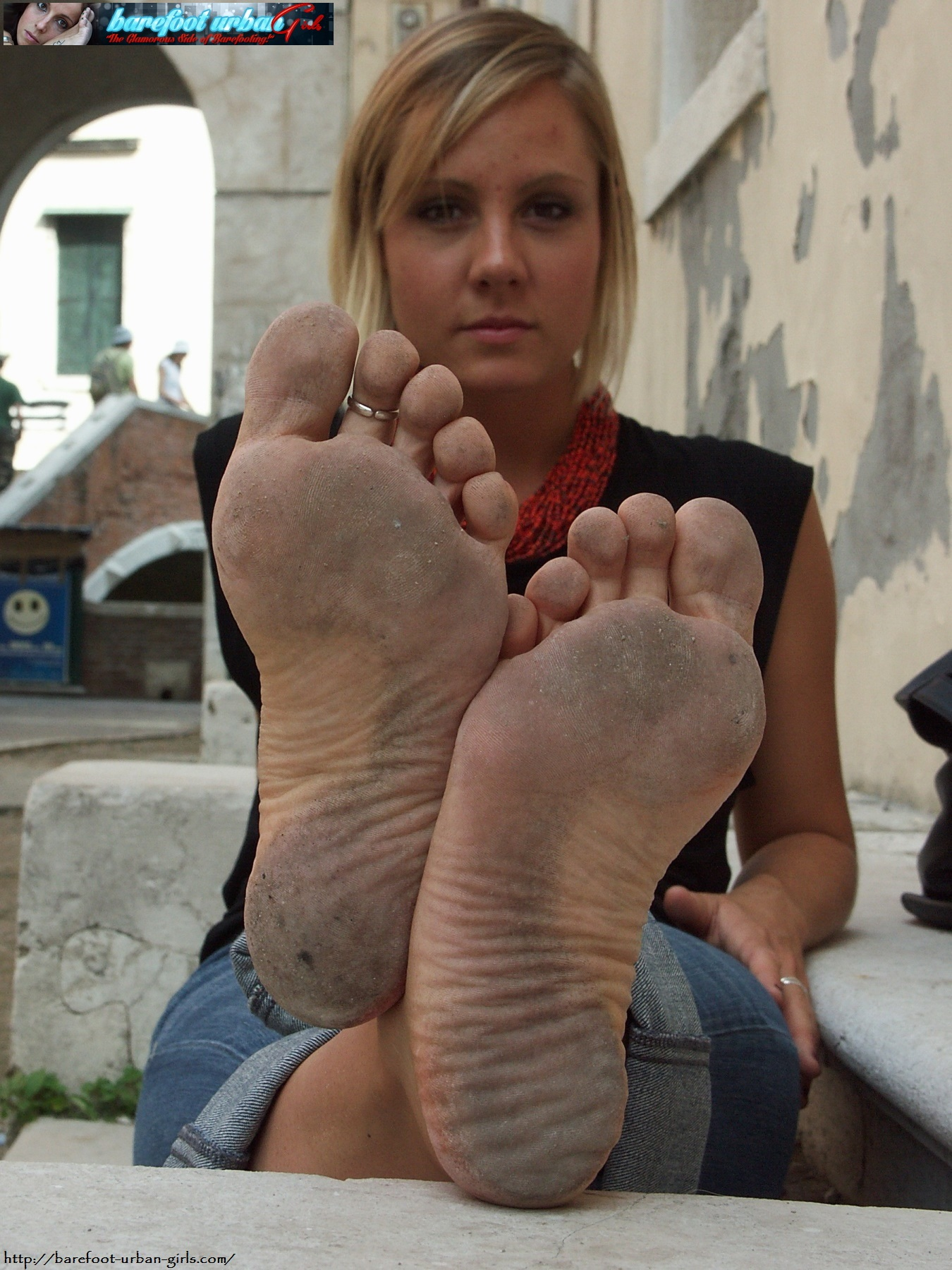 image Great footjob with red nails makes his cock cum mia bandini
